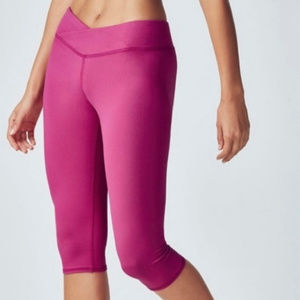 Fabletics Womens Sz XL pink cropped athletic pants